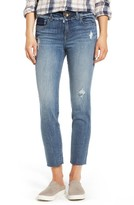 KUT from the Kloth Women's Kelly Destructed Ankle Straight Leg Jeans