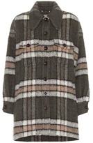 Chloé Plaid mohair-blend coat