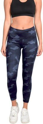 90 Degree By Reflex Lux Camo High Waisted Ankle Leggings