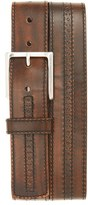 Allen Edmonds Men's 'Hackett Ave' Brogue Leather Belt