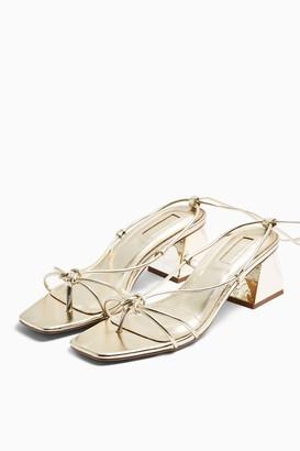 Topshop NIKITA Gold Strap Sandals