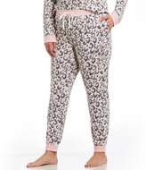 Kensie Plus Animal-Print Jersey Jogger Sleep Pants