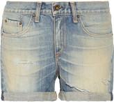 Rag & Bone Boyfriend distressed denim shorts