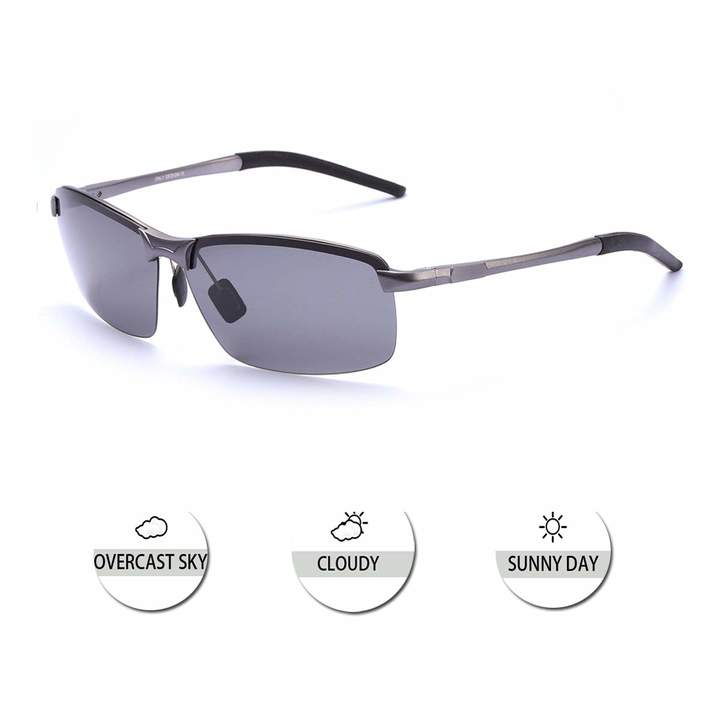 4d5251c6c2 OSVAW Polarized Sunglasses for Men with Al-Mg Frame, UV400 Protection  Outdoor Sport Rectangular Sunglasses for Driving (blackgrey)