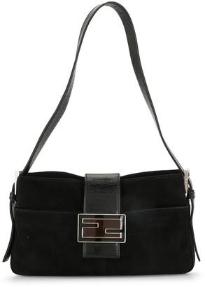 Fendi Pre-Owned velvet FF buckle shoulder bag