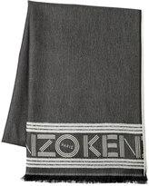 Kenzo Sport Jacquard Wool Scarf