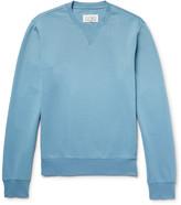 Maison Margiela Leather Elbow-Patch Loopback Cotton-Jersey Sweatshirt