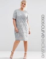 Asos Mermaid Embellished Shift Dress
