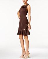 MICHAEL Michael Kors Studded Flounce-Hem Dress
