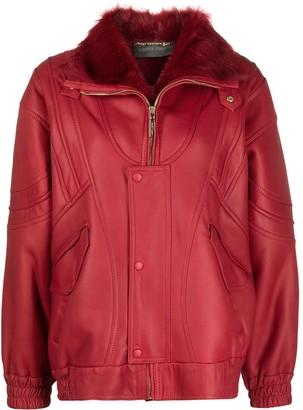 Alberta Ferretti Oversized Leather Jacket