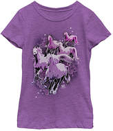 Fifth Sun Purple Berry Stampede Tee - Girls