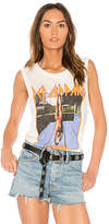 Junk Food Clothing Def Leopard Tank in Cream