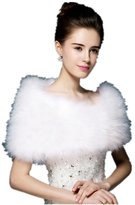 Generic Faux Fur Wedding Jacket/Coat Evening Party Wrap Short Sleeves