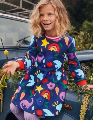 Boden Printed Sweatshirt Dress