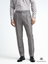 Banana Republic Slim Monogram Gray Stripe Wool Blend Suit Trouser