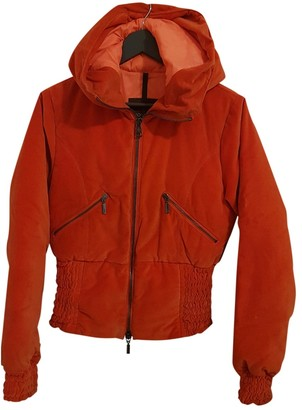 Moncler Orange Cotton Leather jackets