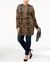 INC International Concepts I.n.c. Plus Size Chain-Belt Tunic Sweater, Created for Macy's