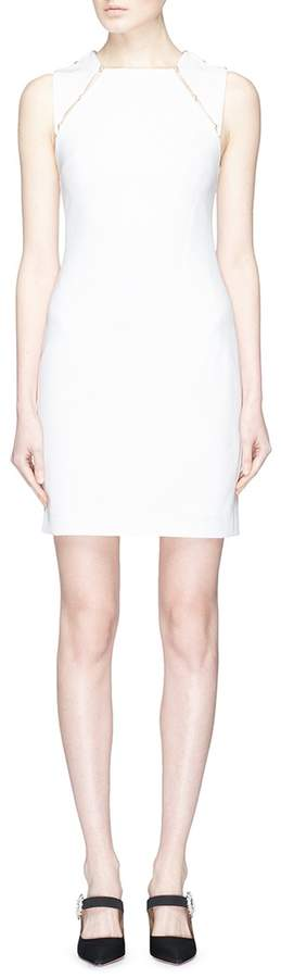 Alice + Olivia 'Kristiana' faux pearl cutout shoulder sleeveless dress