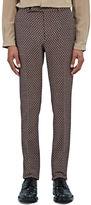 Gucci Men's Slim Tiled Jacquard Pants In Red
