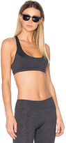 Lanston Sport Ali Cross Back Racer Bra in Charcoal. - size XS (also in )