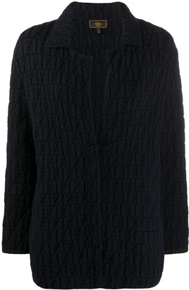 Fendi Pre Owned 2000s knitted FF motif jacket