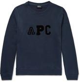 A.P.C. Flocked Fleece-back Cotton-blend Sweatshirt