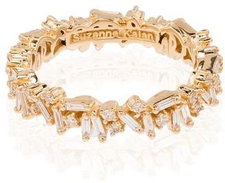 Suzanne Kalan 18kt yellow gold Icon baguette diamond ring