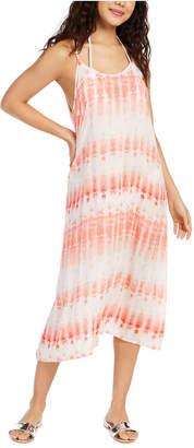 J Valdi Tie-Dyed Printed Swim Cover-Up Dress Women Swimsuit