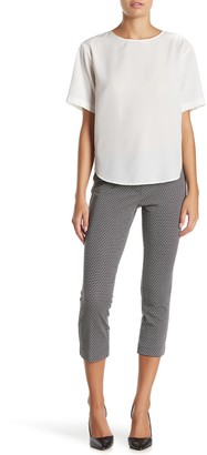 Amanda & Chelsea Comfort Waist Geo Pattern Ponte Knit Pants (Petite)