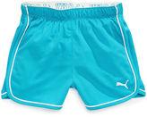 Puma Kids Shorts, Little Girls Fold-Over Mesh Shorts