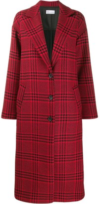 RED Valentino houndstooth oversized coat
