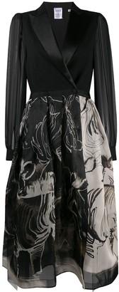 Areta buttoned wrap dress