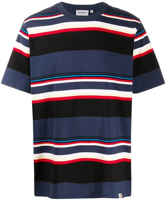 Carhartt Work In Progress striped round neck T-shirt