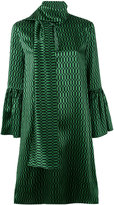 Fendi neck-tie shift dress - women - Silk - 40