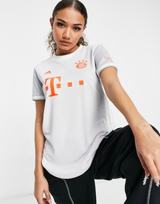 adidas Football Bayern Munich away jersey in grey