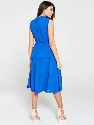 Ted Baker Sinita Tie Waist Midi Dress - Blue