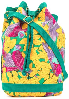 Hermes 1990s Parrot Print Tote Bag