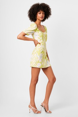 French Connenction Berina Whisper Puff Sleeve Dress
