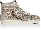 Christian Louboutin Men's Louis Flat Sneakers-SILVER