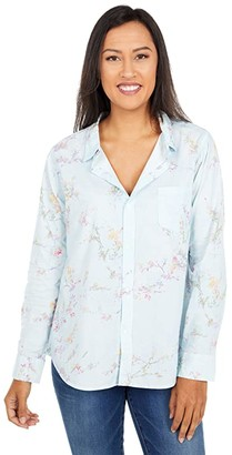 Dylan by True Grit Jesse Cotton Prints One-Pocket Button-Up Shirt (Chambray) Women's Clothing