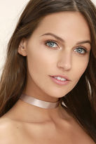 LuLu*s Love Confession Taupe Choker Necklace
