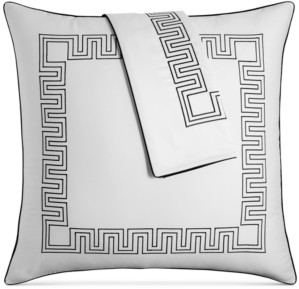 Hotel Collection Greek Key Cotton European Sham, Created for Macy's Bedding