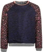 Ikks COULEUR BLOCK Sweatshirt gris chiné
