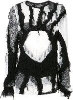 Ann Demeulemeester open knit jumper - men - Silk/Cotton - S