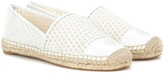 Tory Burch Fabric And Leather Espadrilles