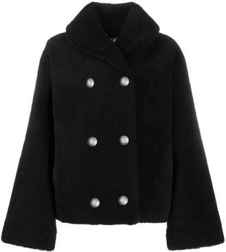 Balmain Fluffy Double-Breasted Coat