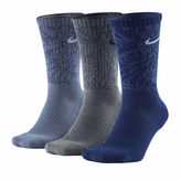 Nike Mens 3-pk. Dri-FIT Triple Fly Crew Socks - Big & Tall