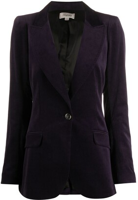 Temperley London Velvet-Effect Single-Breasted Blazer