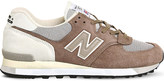 New Balance 575 logo-detail suede trainers