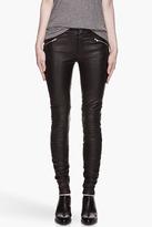 BLK DNM Black Biker Inspired Stretch Leather Pants